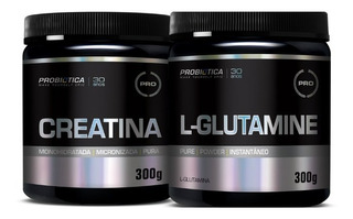 Glutamina 300g + Creatina 300g-probiotica - Ultimas Unidades