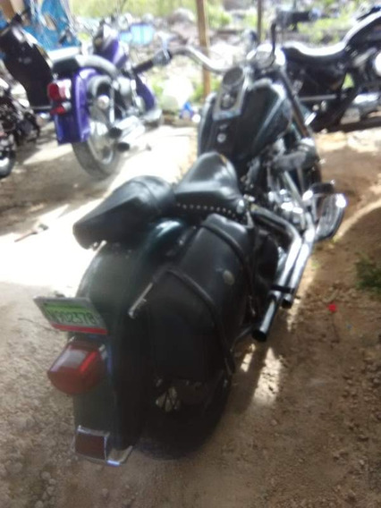 Harley Davidson Heritage Ano 2001 Softtail, Verde, 65 Hp,