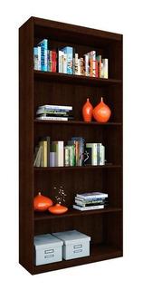 Biblioteca Diseño Oficina Con 4 Estantes 75x180 Wengue
