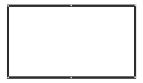 proyecci/ón frontal y trasera para interiores pantalla plegable para cine en casa Bestine Pantalla de proyecci/ón m/óvil de 84 pulgadas pantalla de proyecci/ón de v/ídeo HD de 16:9