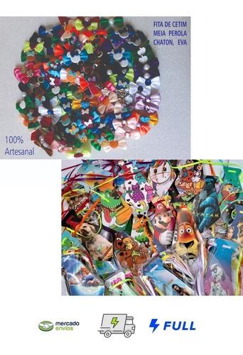 Kit 150 Lacinhos Banho Tosa + 50 Gravatinhas Para Pet Shop 12 X Sem Juros + Frete Grátis Pronta Entrega