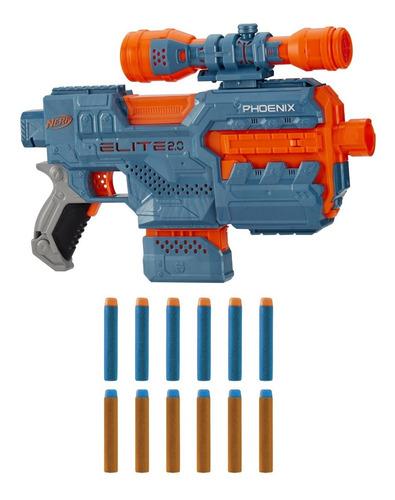 Pistola Nerf Elite 2.0 Phoenix Cs-6 + 12 Dardos Original
