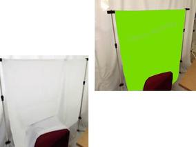 2 Tecido 1,5 X 2 Verde/branco Fundo Infinito Newborn Estúdio