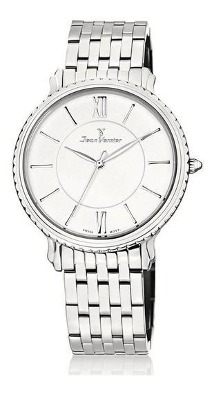 Relógio Jean Vernier Masculino Ref: Jv1026 Slim Prateado