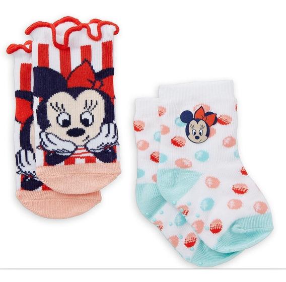 Kit 2 Par Meia Bebe Menino Minnie Urso Pooh Original Disney