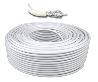 Cable Coaxil Rg6 Bobina Por 152 Metros. Color Blanco
