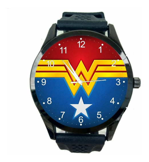 Relogio Mulher Maravilhosa Feminino Hq Comics Super Heroi T7