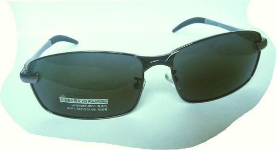 Óculos De Sol Polarizado Masculino Pernas Alumínio Armação Inox
