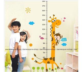 Adesivo Autocolante Régua Girafa Medidor Das Crianças 1 Unid Altura1,80m Ler Prazo De Entrega