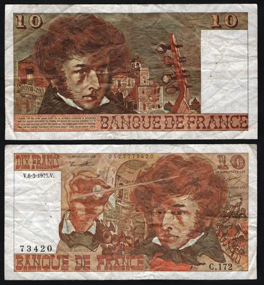 Francia Billete De 10 Francs Del Año 1975 - Berlioz