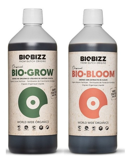 Kit Fert Biobizz Orgânico Grow + Bloom 2 X 500ml