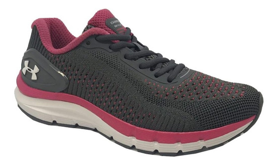 Tênis Under Armour Charged Skyline - Feminino - Chumbo/rosa