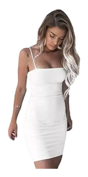 Vestido Midi Justo De Alcinha Reto Estilo Kardashians