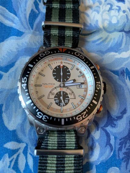 Relógio Nautica 100m - Original - Seminovo - Pulseira Nato