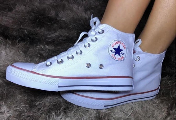 Tênis Converse All Star Cano Alto Branco (botinha)