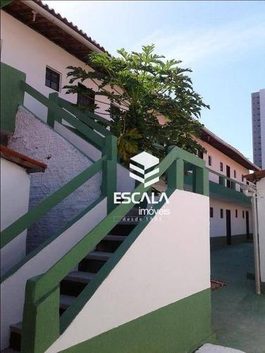 Kitnet Com 1 Dormitório Para Alugar, 30 M² Por R$ 450,00/mês - Meireles - Fortaleza/ce - Kn0001