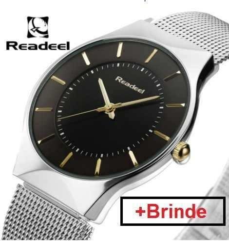 Relógio Ultra Fino Slim Promoção+brinde+promoção Do Dia