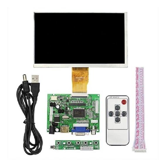 Raspberry Pi 3 Com Tela Lcd De 7 + Case + Placa De Comando