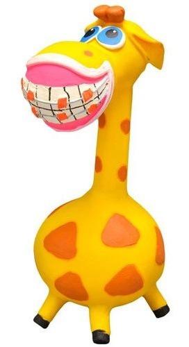 Brinquedo Látex Girafita Sorrisão Girafa De Aparelho 19cm
