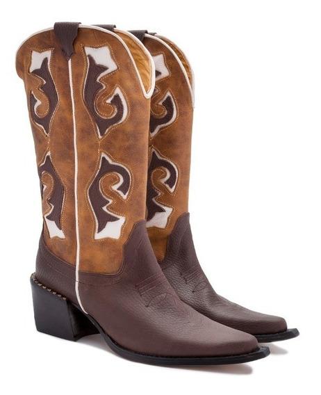 Botas Texanas Mujer 100% Cuero Art Texas Glam Tallon