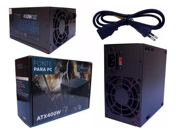 Fonte Real Atx 400w Pc Gamer Super Silenciosa Kp-532