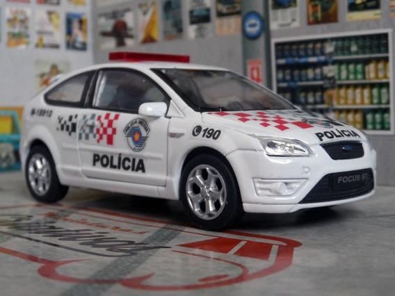 Miniatura Ford Focus St Polícia Militar Pm Sp - Atual