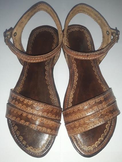 Sandalias Para Dama Hechas En Cuero