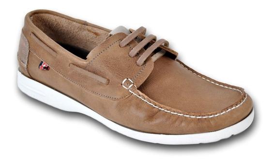 Zapato Mocasín C/cordon Cuero Hombre Zurich 2252 Liviano