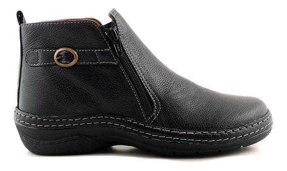 Bota Cuero Mujer Briganti Zapato Botitas Cierre - Mcbo24586