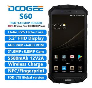 Smartphone Doogee S60 6gb Ram + 64gb Rom Prata Lunar