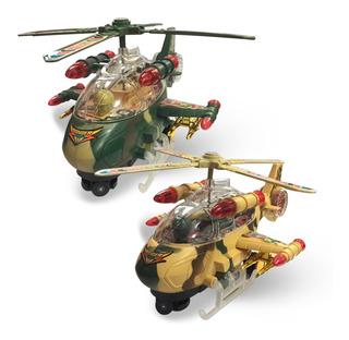 Helicóptero Brinquedo A Pilha Airplane Military Bate E Volta