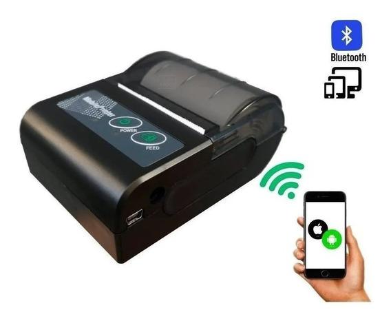 Mini Impressora Termica Bluetooth 58mm Com 5 Rolos