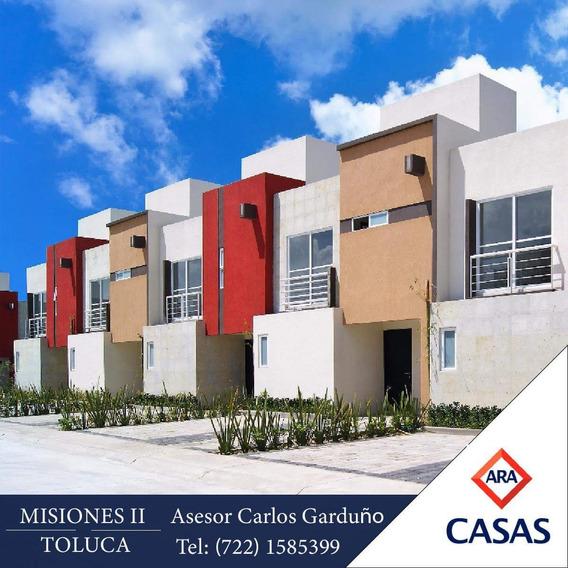 Tu Casa De 3 Recamaras En Toluca, A 30 Minutos De Santa Fe!