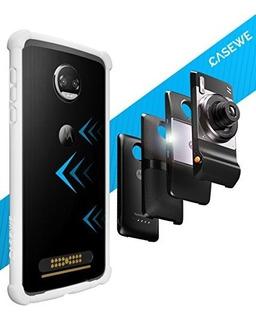 Casewe Funda Para Motorola Moto Z2 Force/bumper Protector C