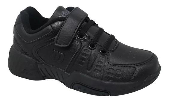 Zapatillas Tenis Wilson De Chicos B2s Black