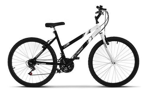 Imagem 1 de 1 de Bicicleta  Ultra Bikes Bike Aro 26 bicolor 18 marchas aro 26 18v freios v-brakes cor preto/branco
