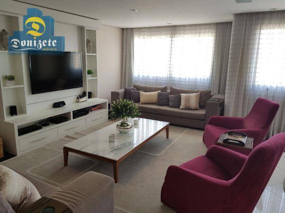 Cobertura Com 3 Dormitórios À Venda, 284 M² Por R$ 1.699.000,01 - Vila Assunção - Santo André/sp - Co1765