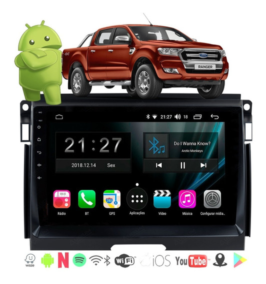 Multimidia Ford Ranger 2017 2018 19 Android 4k Cam Frontal