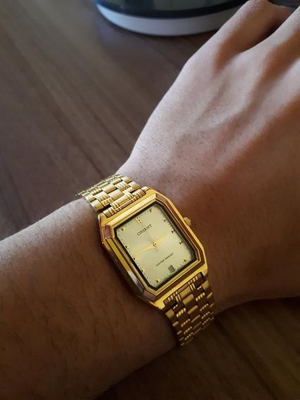 Relógio Orient Water Resist | Ouro | Calendário | Original