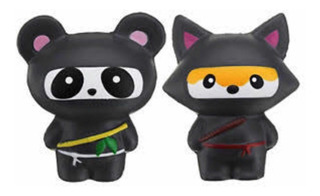 Squishy Zorro O Panda Ninja Negro (sólo 1 Pieza)