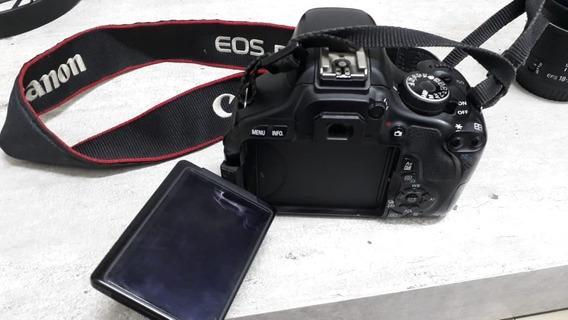 Camera Canon T3i + Lente 18-55mm