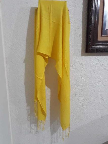 Pashmina Chalina Bufanda De Vestir Casual Color Amarillo