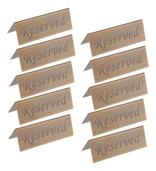 Paquete De 10 Letreros De Carpa De Mesa Reservada Rústica