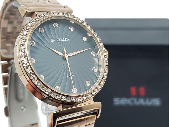 Relógio Feminino Seculus 20738lpsvrs3 Original Garantia