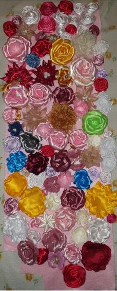 Flores De Listón Para Tiaras, Tocados Diademas, Banditas