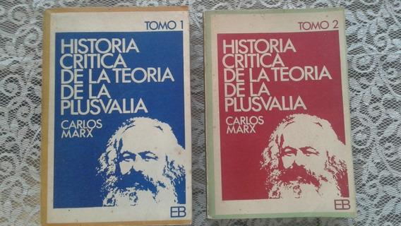 Historia Critica De La Teoria De La Plusvalia 1 E 2 Marx