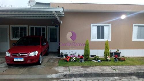 Imagem 1 de 30 de Linda Casa Térrea Em Condomínio Fechado, À Venda - Caxangá - Suzano/sp. - Ca00607 - 69399947