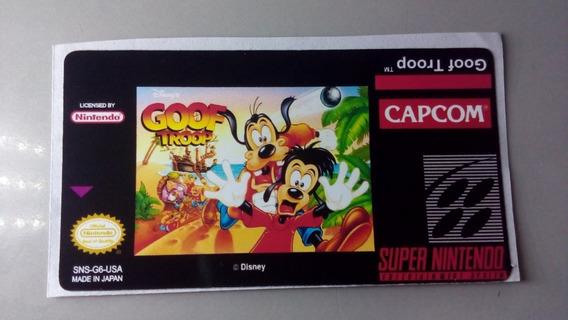 Label Goof Troop Snes Super Nintendo