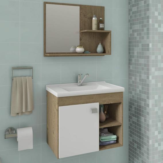 Gabinete De Banheiro Cuba E Espelheira 1 Porta 2 Fcwt