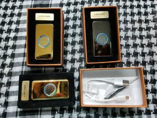 Encendedor Lighter De Lujo Electronico Con Carga Usb Gold